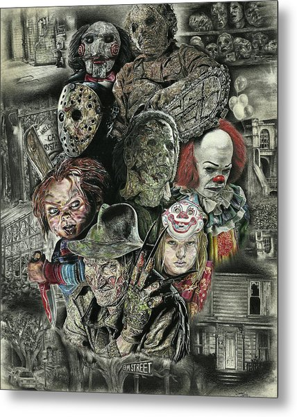 Horror Movie Murderers Metal Print