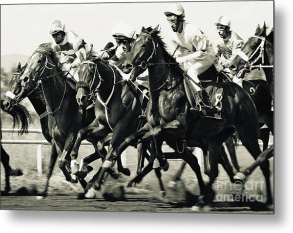 Horse Competition Vi - Horse Race Metal Print