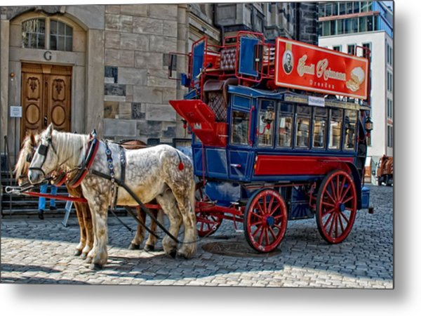 Horse Drawn Vehicle Metal Print