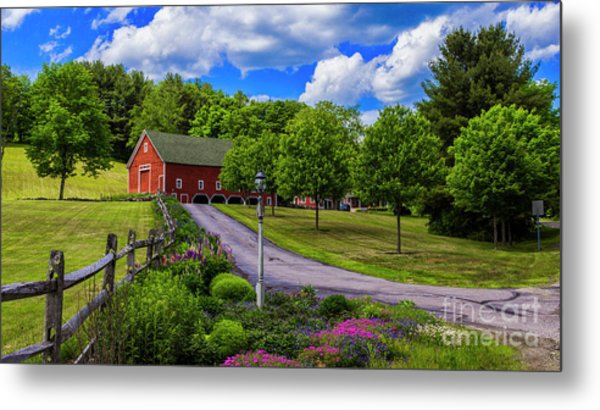 Horse Farm In New Hampshire Metal Print
