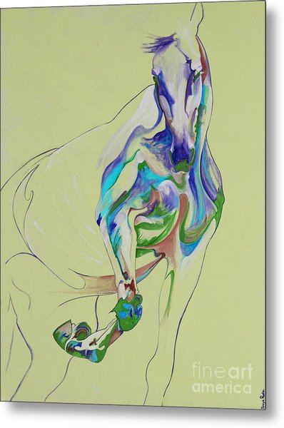 Horse Painting 675k Metal Print by Yaani Art