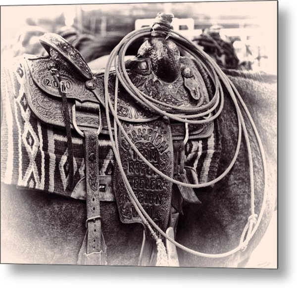 Horse Saddle Metal Print