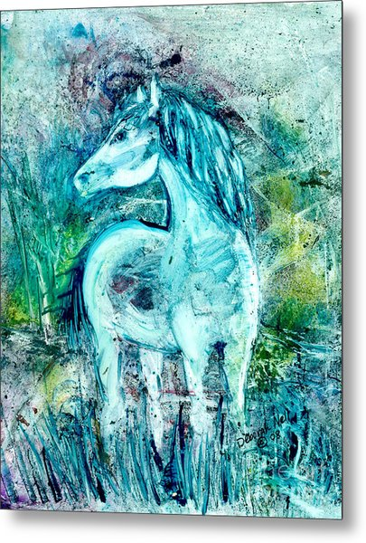 Metal Print featuring the painting Horse Sense by Deborah Nell