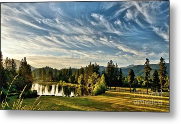 Horse Tail Heaven Metal Print