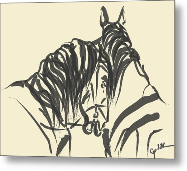 Horse - Together 9 Metal Print