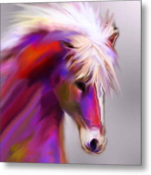 Horse True Colors Metal Print
