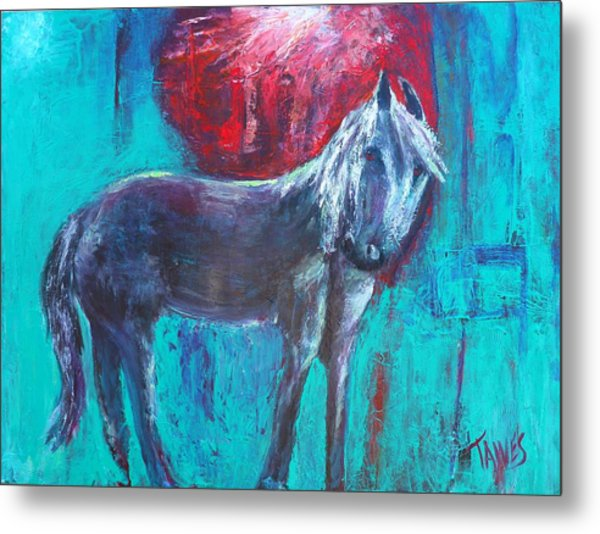 Horse With No Tame Metal Print