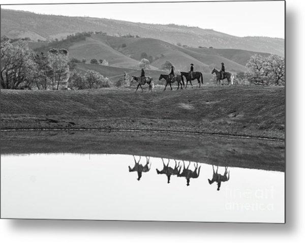 Horseback Landscape Metal Print