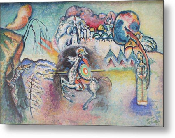 Horseman. St. George Metal Print by Wassily Kandinsky