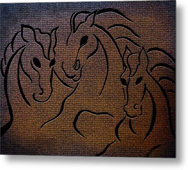 Horses Of Fire Metal Print
