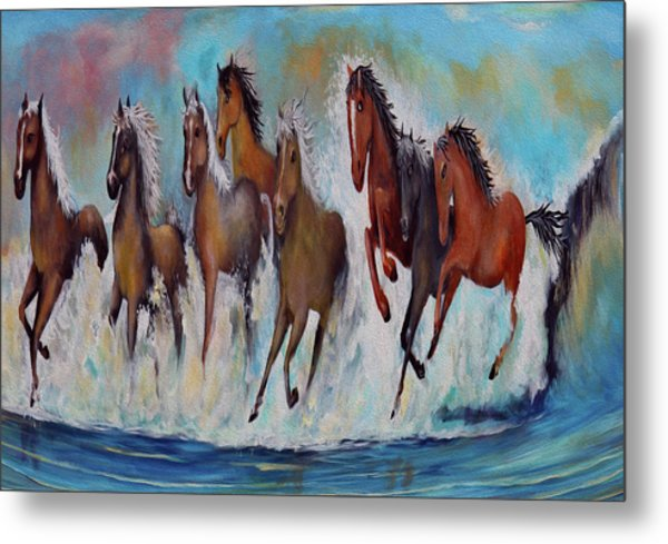Horses Of Success Metal Print