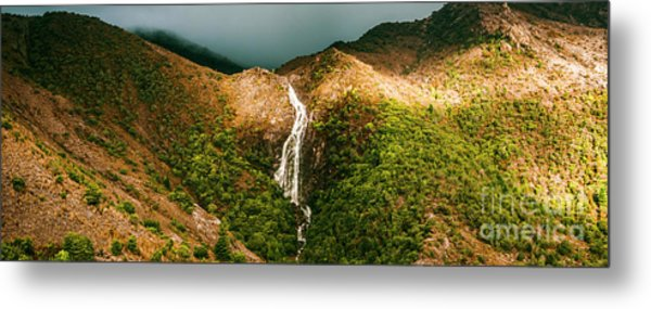 Horsetail Falls In Queenstown Tasmania Metal Print