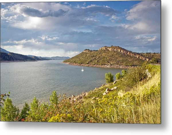 Horsetooth Dam Co Metal Print by James Steele