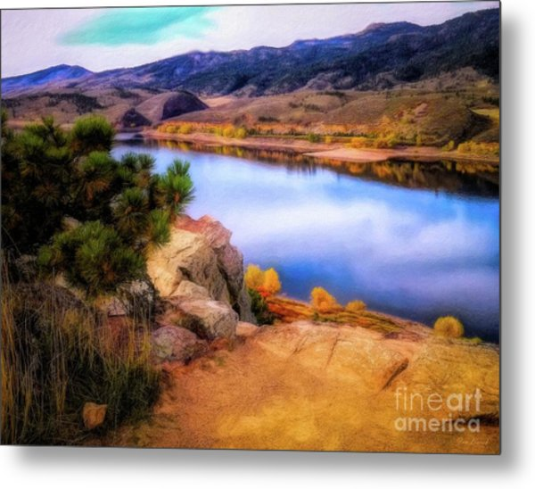 Horsetooth Lake Overlook Metal Print