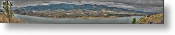 Horsetooth Reservoir Panoramic Hdr Metal Print