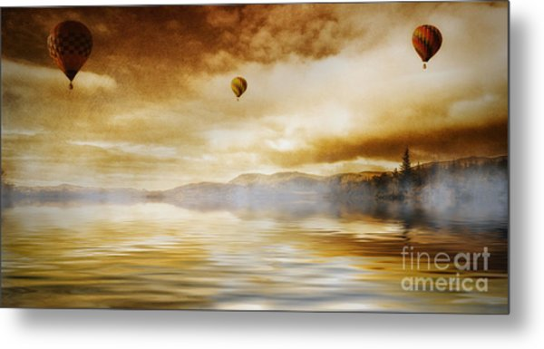 Hot Air Balloon Escape Metal Print