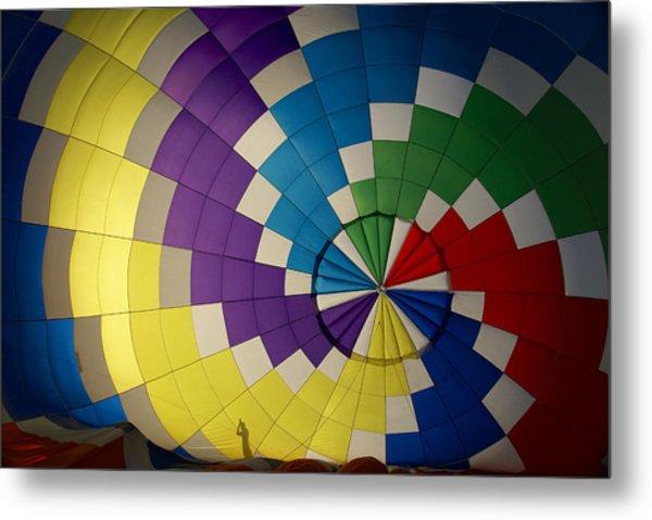 Hot Air Balloon Silhouette Metal Print
