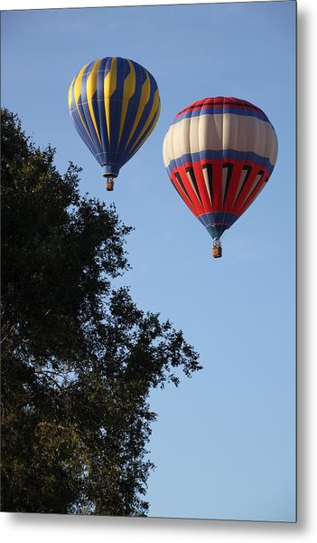 Hot Air Balloons Over Dansville Ny Metal Print
