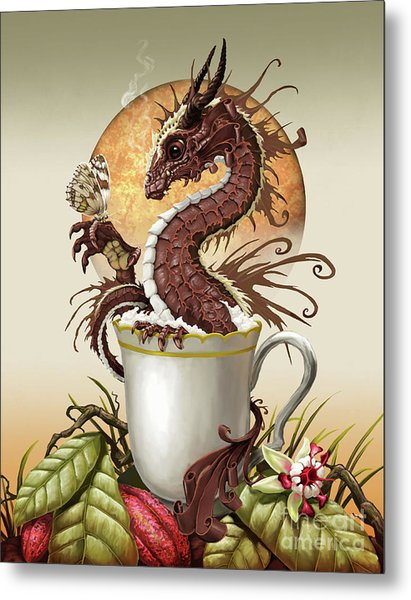 Hot Chocolate Dragon Metal Print