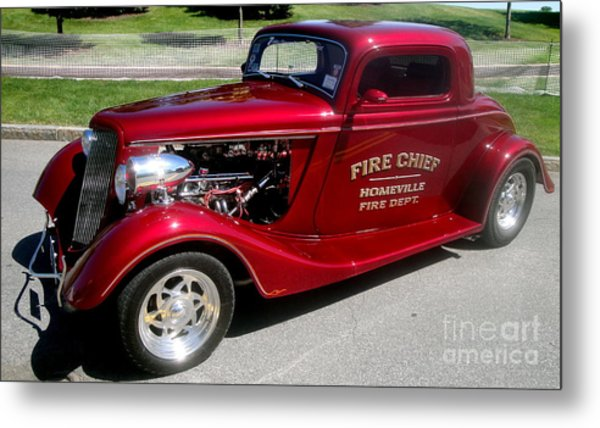 Hot Rod Chief Metal Print