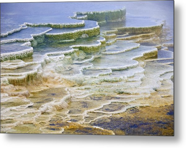 Hot Springs Runoff Metal Print