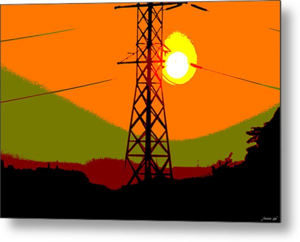 Hot Summer Sun Metal Print