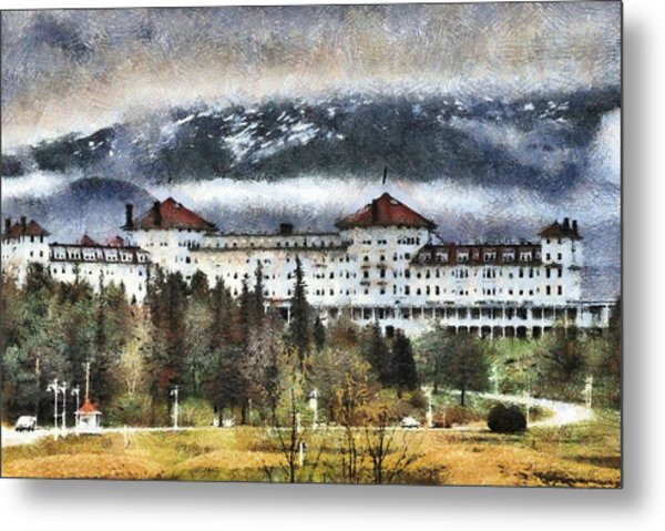 Hotel At Mount Washington Metal Print