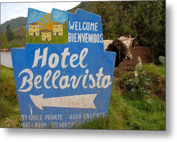 Hotel Bellavisto Metal Print by Lynn Friedman