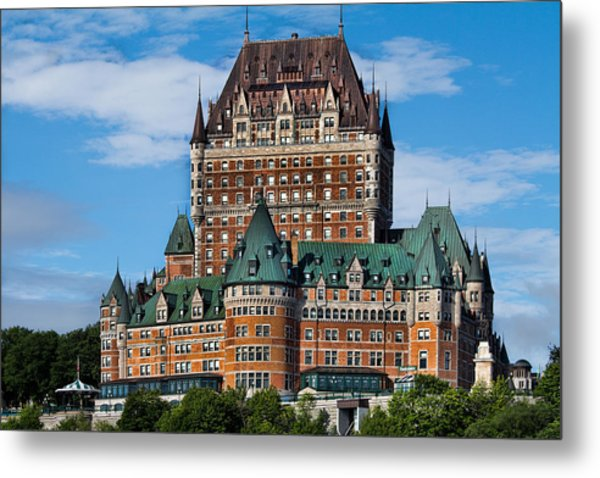 Chateau Frontenac In Quebec City Metal Print