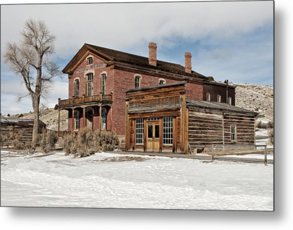 Hotel Meade And Saloon Metal Print