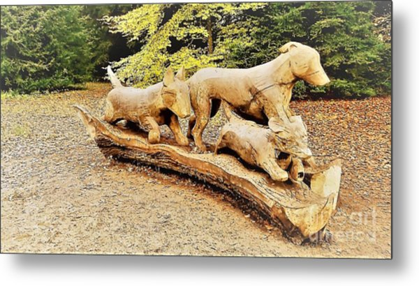 Hounds On The Run Metal Print