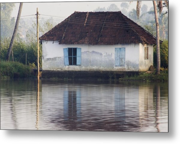 House Along The Kerala Backwaters Metal Print by Andrew Soundarajan