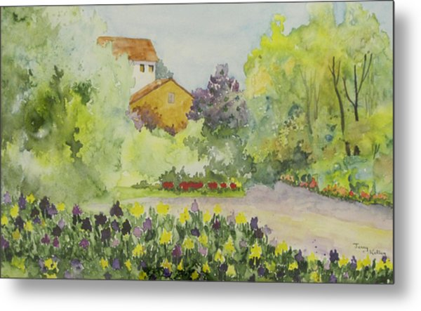 House And Garden Metal Print by Jerry Kelley