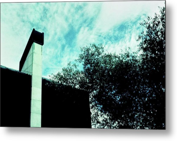 House And Sky Metal Print