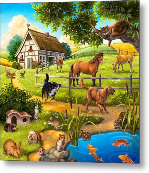 House Animals Metal Print
