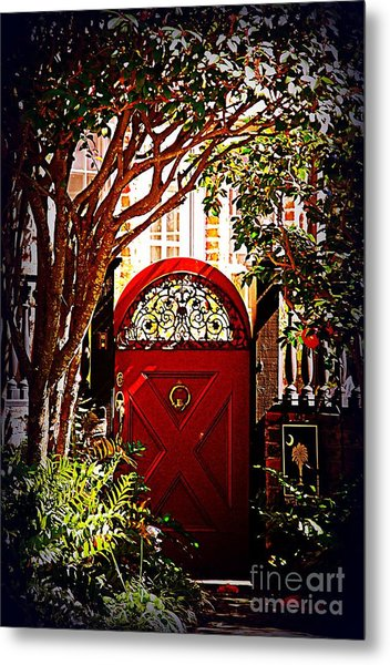 House Door 5 In Charleston Sc  Metal Print