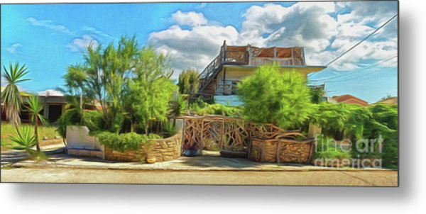 Metal Print featuring the photograph House In Agios Georgios Corfu  by Leigh Kemp