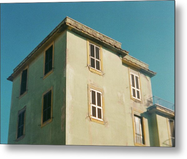 House In Ostia Beach, Rome Metal Print