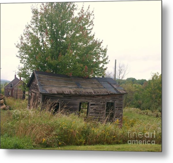 House Left Alone. Metal Print by Dennis Curry