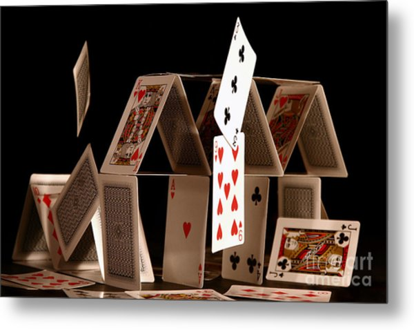 House Of Cards Metal Print