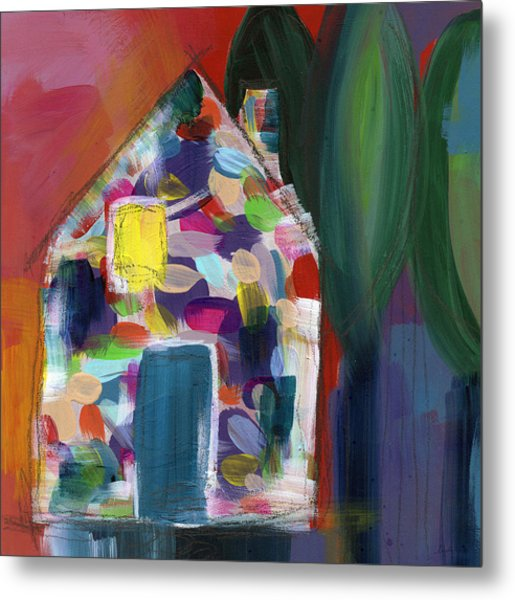 House Of Many Colors- Art By Linda Woods Metal Print