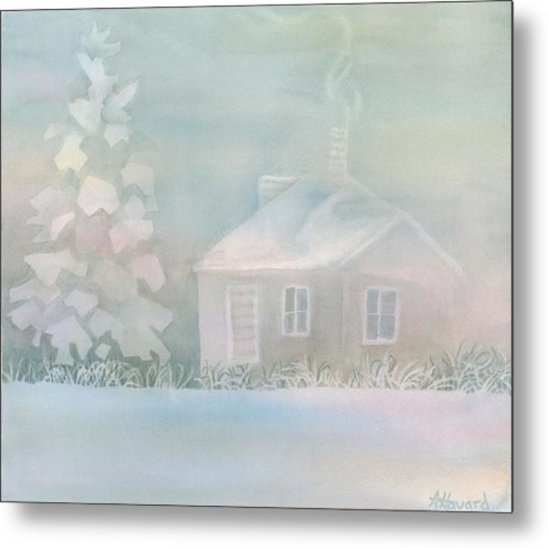 House Of Snow And Fog Metal Print