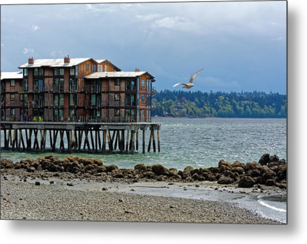 House On Stilts Metal Print