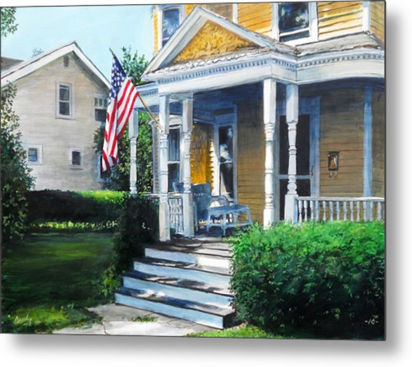 House On Washington Street Metal Print