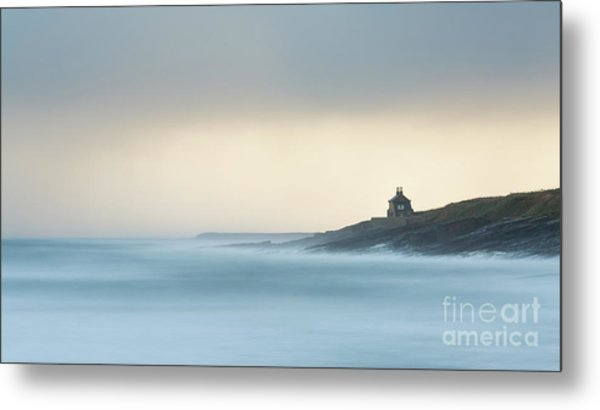 House Overlooking Cullernose Point Metal Print