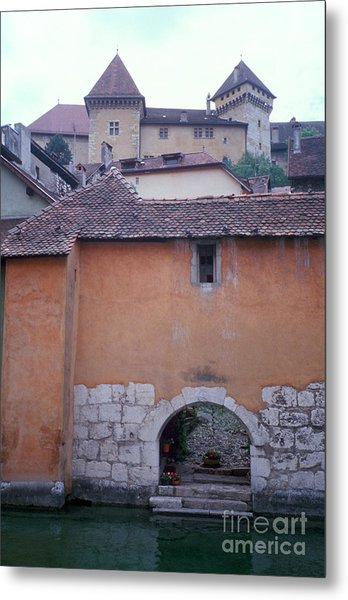 House With Landing Place And Castle At Annecy Metal Print
