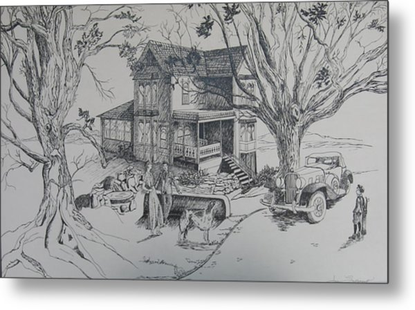 House Years Past Metal Print by Joan Taylor-Sullivant