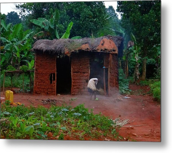 Housecleaning Africa Style Metal Print