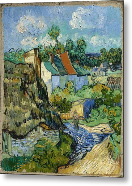 Metal Print featuring the painting Houses In Auvers by Van Gogh
