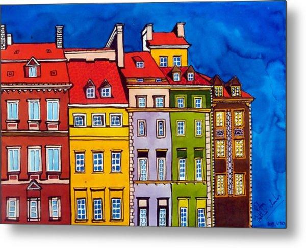 Houses In The Oldtown Of Warsaw Metal Print